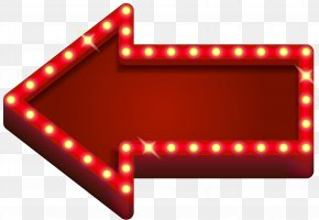 Red Neon Arrow Transparent Clip Art - Light Neon Arrow Clip Art PNG