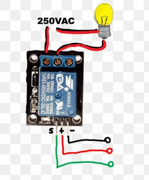 Microcontroller Wiring Diagram Arduino Relay Electrical Wires & Cable PNG
