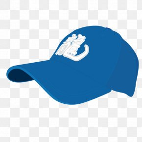 Vector Blue Baseball Hat - Sports Equipment Ball Game Icon PNG