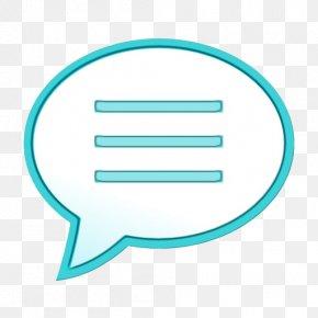 Text Aqua - Turquoise Aqua Text Line Icon PNG