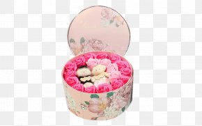 Round Floral Pattern Gift Box - Box Gift Wedding Flower PNG