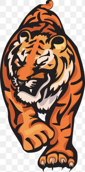 Tiger - Tiger Lion Cat Roar Clip Art PNG