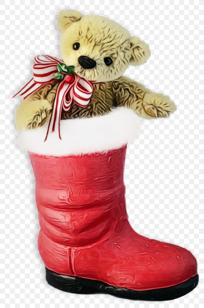Teddy Bear, PNG, 820x1238px, Christmas Stocking, Boot, Christmas Socks, Footwear, Paint Download Free