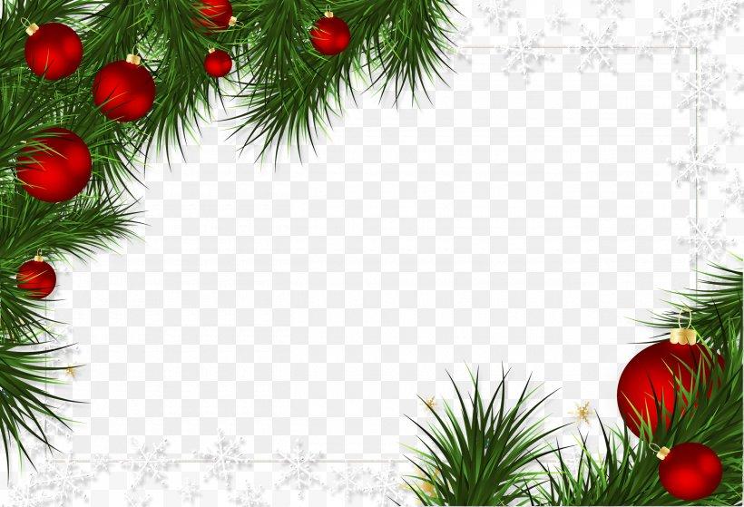 Borders And Frames Christmas Decoration Picture Frames Christmas Ornament, PNG, 2600x1775px, Borders And Frames, Branch, Christmas, Christmas And Holiday Season, Christmas Decoration Download Free