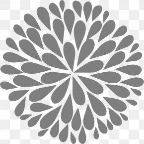 Design - Floral Design Black And White Clip Art PNG