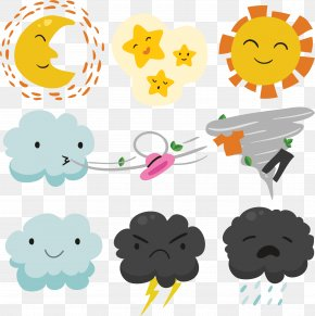 Cute Clouds Weather Chart - Weather Forecasting Euclidean Vector Wind PNG