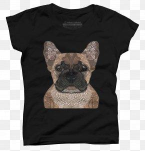 French Bulldog Face - French Bulldog T-shirt Pug Dog Breed PNG