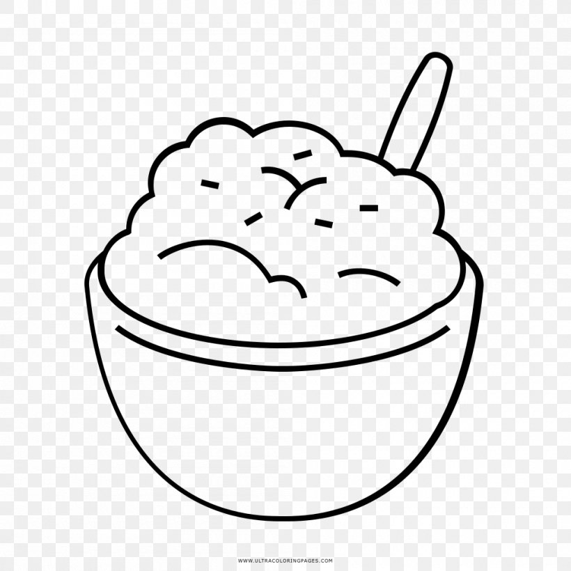 Mashed Potato Drawing Coloring Book Baked Potato Clip Art ...