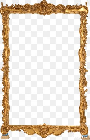 Gold Frame - Picture Frame Mirror Clip Art PNG