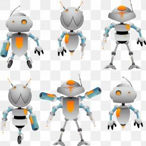 Creative Vector White Robot - Robot Cartoon PNG