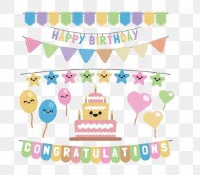 Happy Birthday - Birthday Cake Party PNG