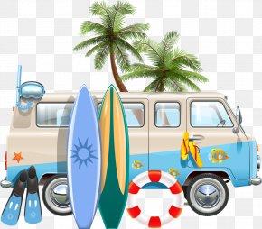 Vector Car And Surfboard - Euclidean Vector Stock Illustration Illustration PNG