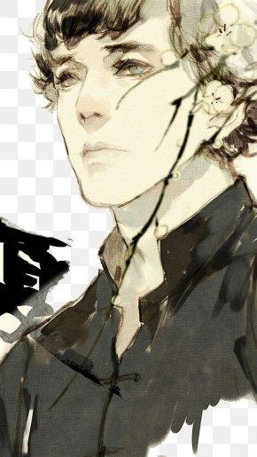 Sherlock Holmes Hand Painted - Sherlock Holmes Doctor Watson Illustration PNG