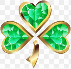 Diamond Irish Shamrock Transparent Clip Art - Shamrock Clip Art PNG