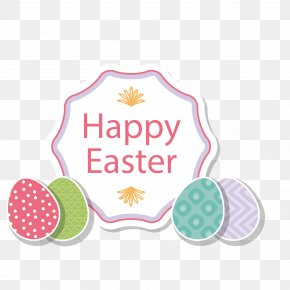 Easter Eggs - Easter Cartoon Greeting Card Illustration PNG