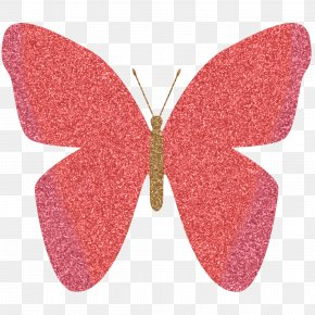 Pink Sparkle Cliparts - Butterfly Glitter Pink Color Clip Art PNG