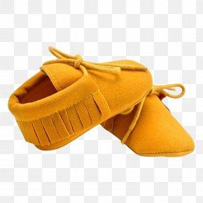 Sandal - Moccasin Shoe Infant Yellow Fringe PNG