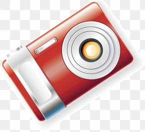 Camera Material Vector - Digital Cameras Electronics Icon Design PNG