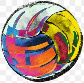Volleyball Painted Picture Material - Volleyball Color PNG