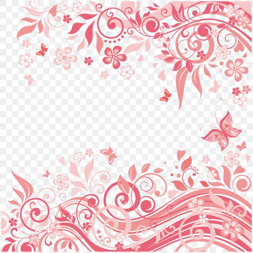 Royalty-free Pink Illustration, PNG, 1654x1654px, Royaltyfree, Area, Art, Drawing, Flora Download Free