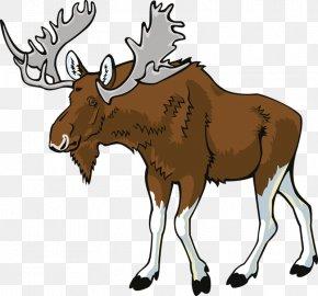 Hand-painted Reindeer - Deer Elk Moose Clip Art PNG