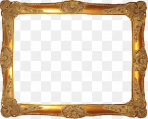 Gold Frame Material - Picture Frame Digital Photo Frame Clip Art PNG