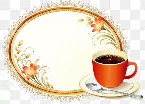 Floral Decoration Cafe Menu - Coffee Cafe PNG