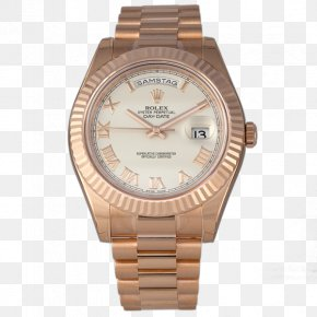 Watch - Watch Strap Rolex Day-Date Colored Gold PNG