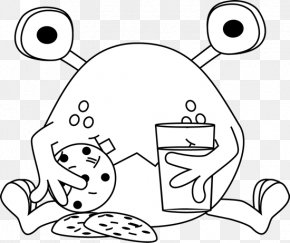 Monster Eating Cliparts - Cookie Monster Black And White Cookie Chocolate Chip Cookie Clip Art PNG