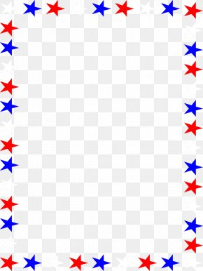 Free Blue Borders And Frames - Flag Of The United States Independence Day Clip Art PNG