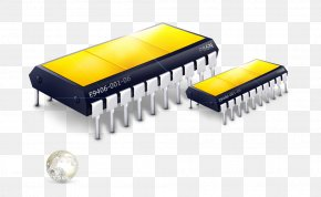 Electronic Chip - Microphone Electronics Electronic Component Headphones Integrated Circuit PNG