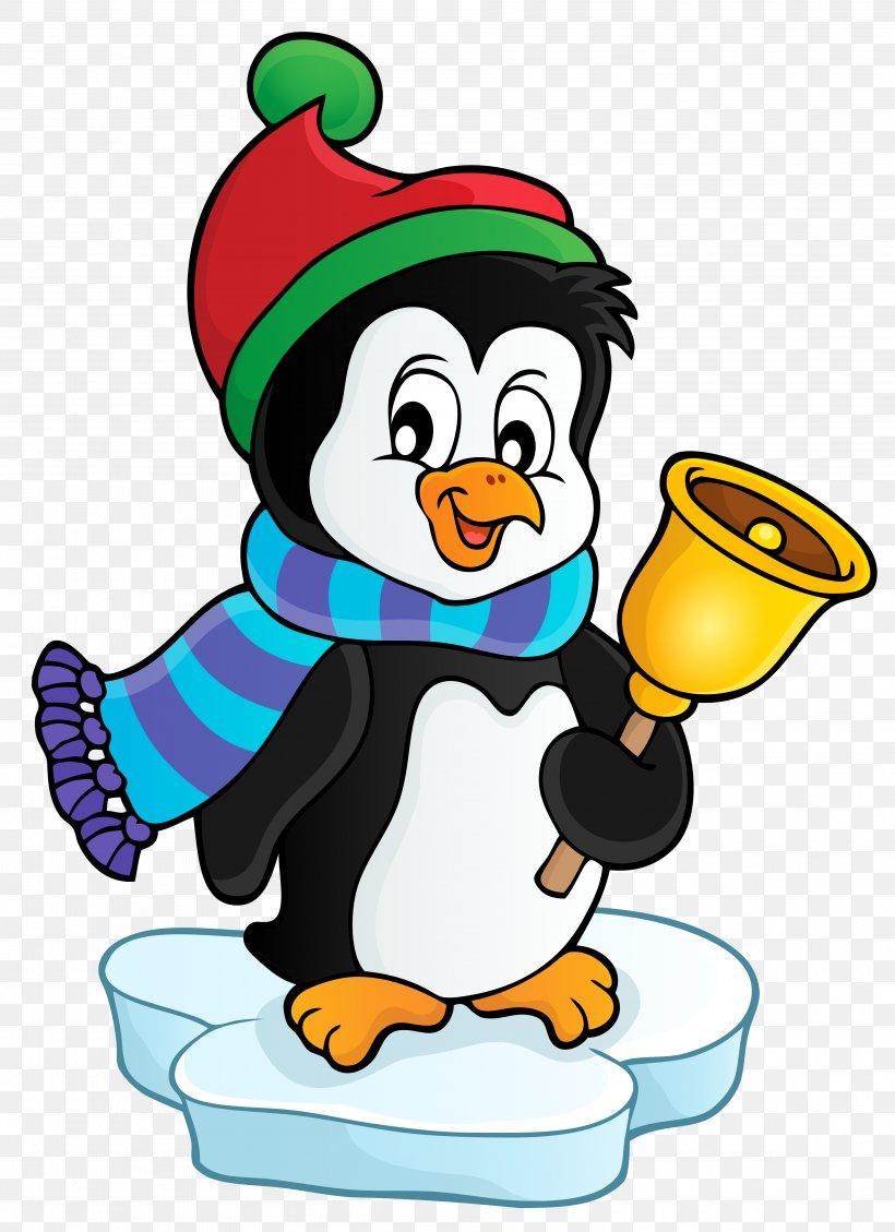Penguin Flightless Bird Santa Claus Clip Art, PNG, 3774x5198px, Penguin, Artwork, Beak, Bird, Cartoon Download Free