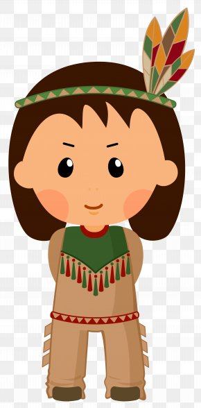 Native American Boy Clipar Image - Native Americans In The United States Thanksgiving Clip Art PNG