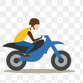 Vector Man Riding A Motorcycle - Scooter Motorcycle Motorbike Free Tu Huella De Carbono PNG