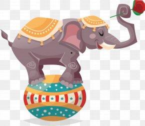 Thailand Elephant Vector - Circus Elephant Illustration PNG
