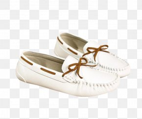 White Peas Shoes Flat Shoes Material - Slip-on Shoe Slip-on Shoe Ballet Flat Leather PNG