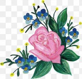 Flower Paint - Cut Flowers Floral Design Art Flower Bouquet PNG