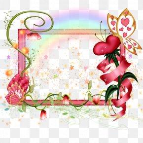 Fairytale Frame - Picture Frames Floral Design Clip Art PNG