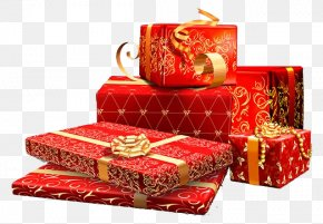 Gift Box - Gift Birthday Chinese New Year Box PNG