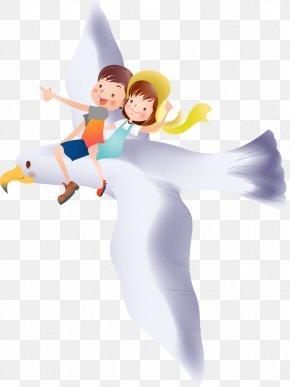 Cute Kids Cartoon - Rock Dove Bird Cartoon PNG