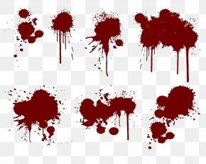 Crimson Blood - Splatter Film Paint Splash Ink PNG
