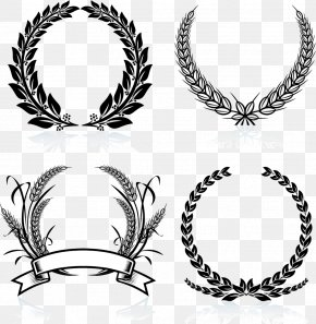 Creative Creative Decorative Garland - Laurel Wreath Stock Photography Clip Art PNG