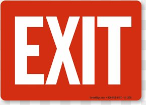 Exit Signs - Exit Sign Emergency Exit Safety Nameplate Clip Art PNG