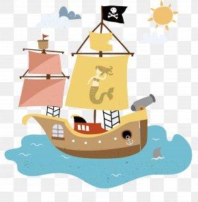 Daylight - Vector Graphics Piracy Ship Transport Euclidean Vector PNG