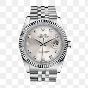 Silver Rolex Watch - Rolex Datejust Rolex Daytona Rolex Milgauss Rolex Submariner Rolex GMT Master II PNG