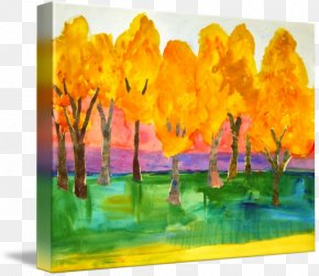 Painting - Color Field Modern Art Watercolor Painting PNG