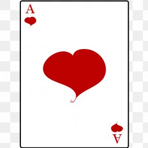 Suit - Ace Of Hearts Playing Card Clip Art PNG