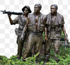 New Mexico State Veterans Home - Vietnam Veterans Memorial The Three Soldiers Vietnam War Photography Image PNG