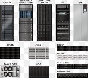 Made Server - Server Room 19-inch Rack Data Center PNG