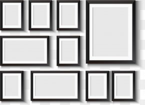 Frame Frame Design Vector Material - Window Picture Frame Wall Decal PNG